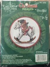 BUCILLA COUNTED CROSS STITCH KIT CHRISTMAS 32979 Bear & Hobby Horse