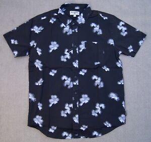 New Billabong Men's Sunday's Mini Black Short Sleeve Woven Shirt BBL-382