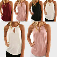 Women Summer Sleeveless T Shirt Vest Top Blouse Pure Color Casual Fashion Tank