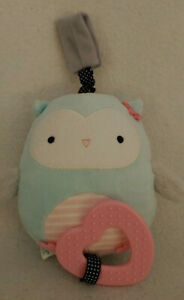 Carter's Blue Just One You Plush Owl Rattle Teether Stroller Baby Toy 63083