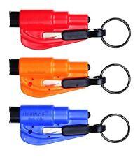 3 Pack New Resqme Escape Tools seatbelt cutter glass breaker Red Orange Blue