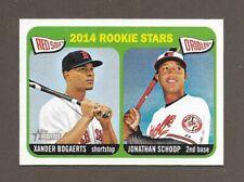 2014 Topps Heritage Xander Bogaerts / Jonathan Schoop #49 Rookie Stars Red Sox