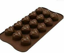 2 X Silicone Chocolate Moulds Soap Making Jelly Sweets Hearts Numbers
