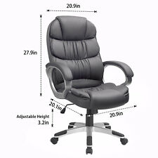 Original Walnew High Back Ergonomic Executive Office Chair Pu Leather