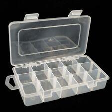 15 Standard Compartiment Bead Craft bijoux pêche Outils Boîte de rangement