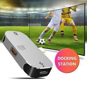 USB Hub Type C 3.1 to Mini DP C Port Adapter 3-in-1 Multi USB PD Docking Station