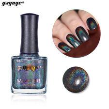Holographic Laser Shining Nail Polish 12ml Holo Glitter Black Nail Varnish