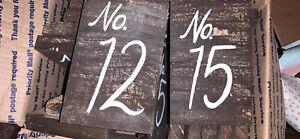 Rustic Table Numbers for Weddings/Parties - Set Of 18