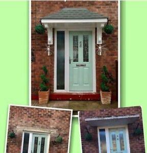 Amazon GRP Fibreglass) Door Canopy 6ft width Free Decorative Brackets