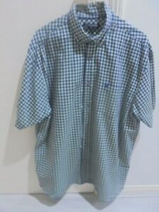 TRENT NATHAN SIZE XL Green Purple Check SHIRT 100% COTTON 'AS NEW'