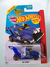 Hot Wheels 2014 HW Race - RIG STORM (Blue Truck) #175/250 - New In Packet
