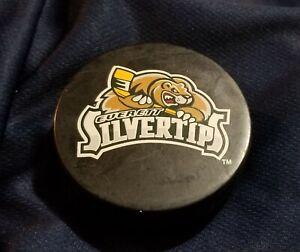 Everett Silvertips Game Used WHL Hockey Puck Scherbak