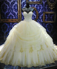White/ivory Mermaid Bridal Gown Wedding Dress Custom Size 6 8 10 12 14 16
