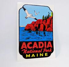 Acadia National Park Maine Vintage Style Travel Decal / Vinyl Sticker