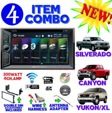 FITS CHEVY-GMC TRUCK-VAN-SUV CD/DVD BLUETOOTH RADIO STEREO DOUBLE DIN DASH KIT