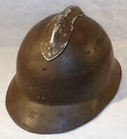 Casque Adrian modèle 1926 avec trace insigne Infanterie français WW2 France 1940