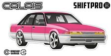 VL Calais Holden Commodore Sticker - Pink with Factory Rims - ShiftPro Brand