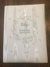 Vtg 60's Baby Book Satin Cover Mid Century Day by Day Year By Year Made In USA