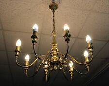 Zauberhafte antike Jugendstil Messing Deckenlampe Kronleuchter ca. 1900