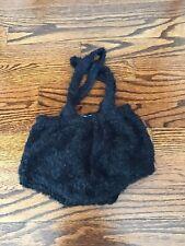 Coco Blanc Black Fuzzy Bloomers 6/9m New