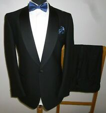 Scott & Taylor 42 R Tuxedo Suit Black Dinner Evening Jacket Trousers 38 R 38x31