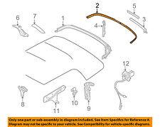 MINI OEM 09-15 Cooper Convertible Top-Molding Trim Left 54347375319