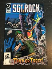 Sgt.Rock#19 Awesome Condition 7.0(1991) Batman App, Joe Kubert Cover!!