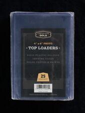 25 4x6 Ultra CBG Premium Pro Hard Rigid Toploaders Photo Topload Holders - New