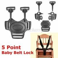 5 Point Baby Safe Belt Lock Stroller Pram Strap Infant Harness Buckle Chair CN