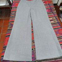 Classiques Entier Wool Blend Mid-Rise Wide-Leg Career Dress Pants Gray Size 10