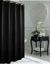 CLEARANCE Jet Black Fabric Shower Curtain 240cm Long New