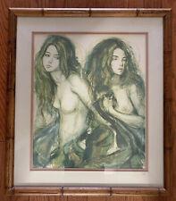 Sheldon C. Schoneberg Two Nudes Framed Print Bamboo Frame