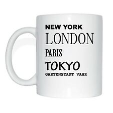 New York, Londres, Paris, Tokyo, Garden City Salon de Vahr Tasse à café