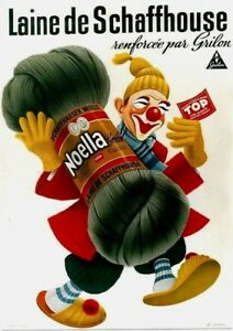 Original vintage poster SCHAFFHOUSE WOOLMARK CLOWN c.1940
