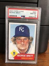 2020 Topps Living Set George Brett Baseball Card #287 PSA 10 Gem Mint