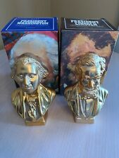 New in Box Vintage Avon President Washington & Lincoln Golden Decanters Bottles