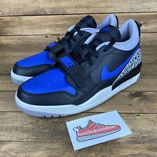 New Men's Nike Air Jordan Legacy 312 Low Black/Game Royal Blue CD7069 041 SZ 9.5