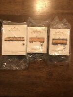 SET OF 3 HALLMARK LIONEL UNION PACIFIC VERANDA LOCOMOTIVE, TENDER & STOCKCAR!