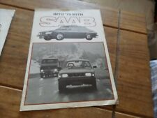 1979 SAAB 99GL EMS TURBO GLE Fold Out Poster UK Market Car Sales Brochure