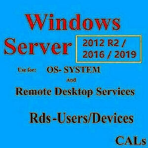 REMOTE DESKTOP SERVICES RDS FOR SERVER AND OS-LICENSE SYS 1 PC AND FAST RESPONSE