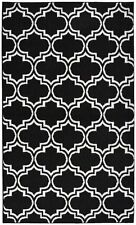 Garland Rug Silhouette Area Rug, 5 by 7-Feet, Black/White, New, Free Shipping