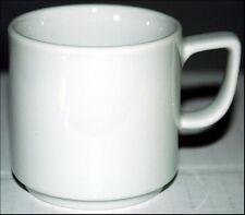 WHITE BOPLA! Porzellan Espresso Tasse Cup Tazza Tasse Taza 0,09l uni weiss NEU