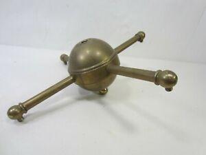 Antique Brass 4 Arm Chandelier for Parts