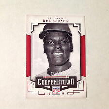Bob Gibson #13 Cardinals 24/35 Made Red Parallel 2015 Panini Cooperstown Hof