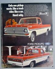 Original 1970 Ford Ranger Pickup Ad ONLY 1 PICKUP RIDES LIKE A CAR...HERES WHY