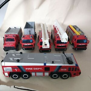 6 assorted Hongwell (?) Fire dept models unboxed
