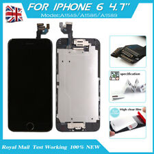 Replacement LCD Touch Screen For iPhone6 Digitizer Home Button Camera Black UK