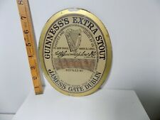 More details for early guinness extra stout beer pub advertising glass window decal sign