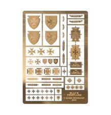 Forgeworld Black Templar etched brass Horus Heresy space marines 40k