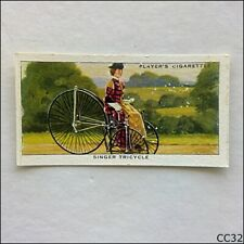 John Player Cycling #7 Singer Tricycle 1939 Cigarette Card (CC32)